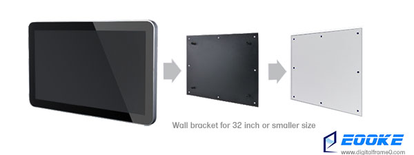 Wall bracket for small sized frame