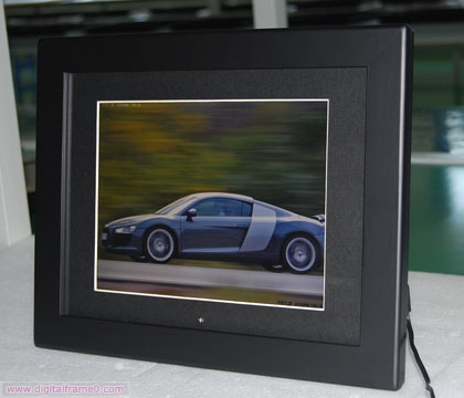 12 black woodden digital frames
