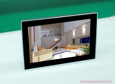 12 inch silver-plated  digital frame