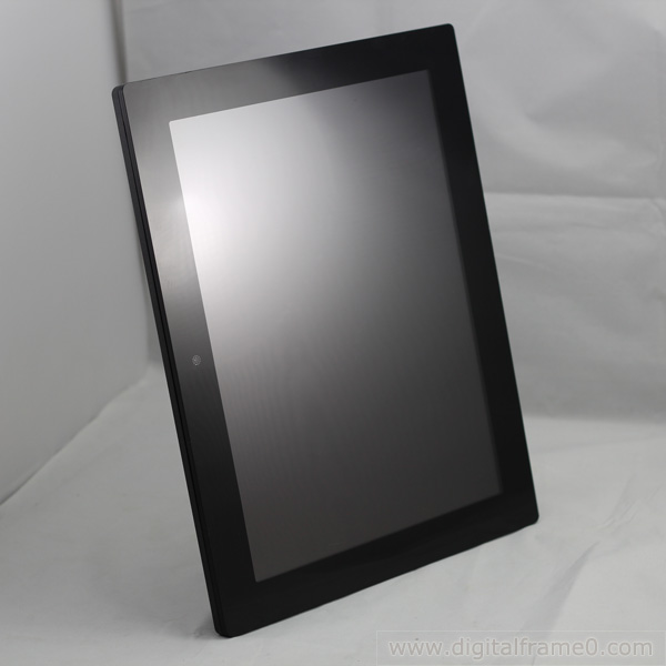 14 inch Mirror polished digital photo frame in black