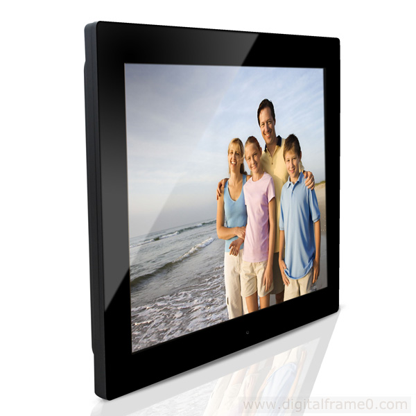 15 inch black slim digital frames