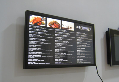 22 inch network advertising frame