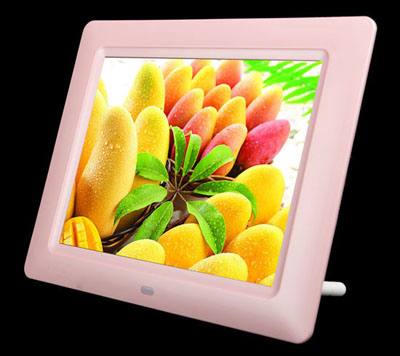 8 inch digital photo frame frame in pink